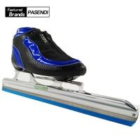 JIE KE HAI DAO Professionnel Adultes glace lame vitesse du rouleau skate chaussures Femmes/hommes inline skate vitesse skate bottes enfants grand roues