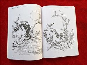 Image 5 - Mới Của Trung Quốc dây chuyền sơn vẽ Màu cuốn sách bút chì Hoa Chim và côn trùng màu cuốn sách mô hình Khắc cho người mới bắt đầu