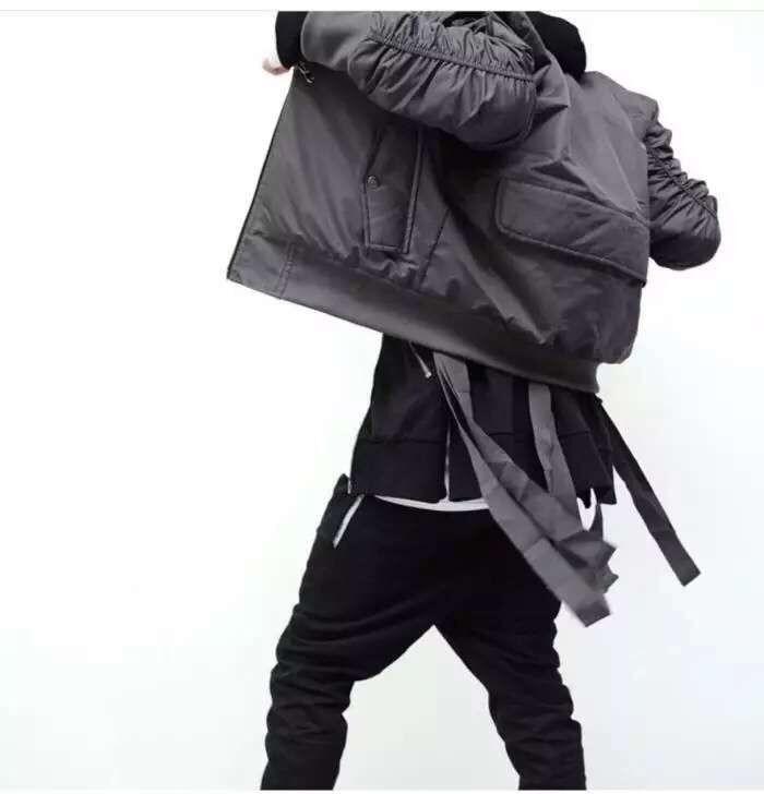 Cool exclusif Bomber veste hommes Kanye West HipHop faux Designer nouvelle décontracté casual Biker Ma1 vol Bomber veste manteau