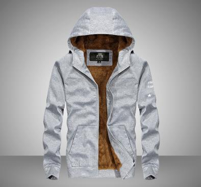 Hoodie dos homens casaco grosso - 4