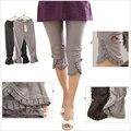 2017 nuevo estilo de primavera y verano delgados pantalones de las mujeres más el tamaño 4xl lace girl legging pantalones de encaje mujeres embarazadas envío gratis