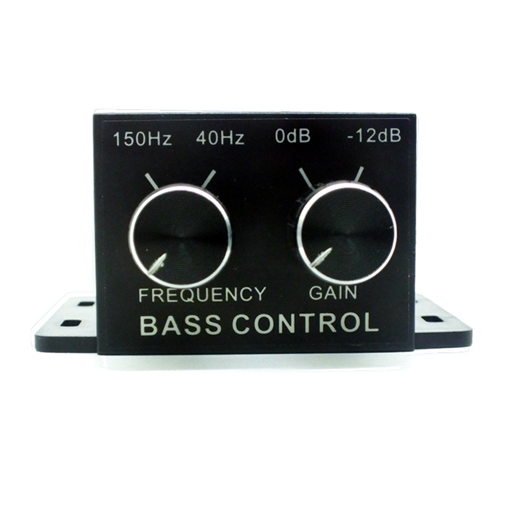 Новый автомобильный усилитель мощности звуковых регулятор регулятор баса на сабвуфер эквалайзер кроссовер RCA на 4 отрегулируйте уровень громкости усилителя
