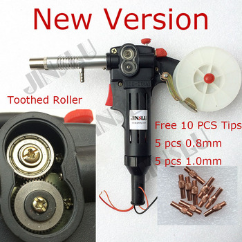 NEW Nylon Body Toothed Roller Free Parts MIG Spool Gun Push Pull Feeder Aluminum Steel Welding Torch without Cable nylon body toothed roller 10 feet euro adpator mig spool gun push pull feeder aluminum steel welding torch jinslu sale1