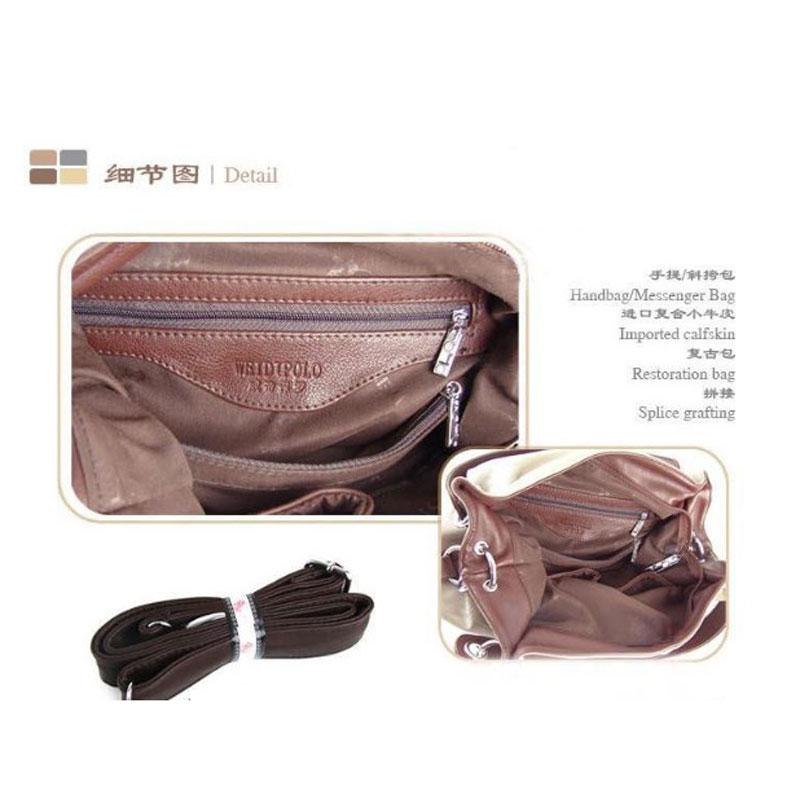 Special offer  new tide Han edition retro splicing bag one shoulder oblique cross bag handbag
