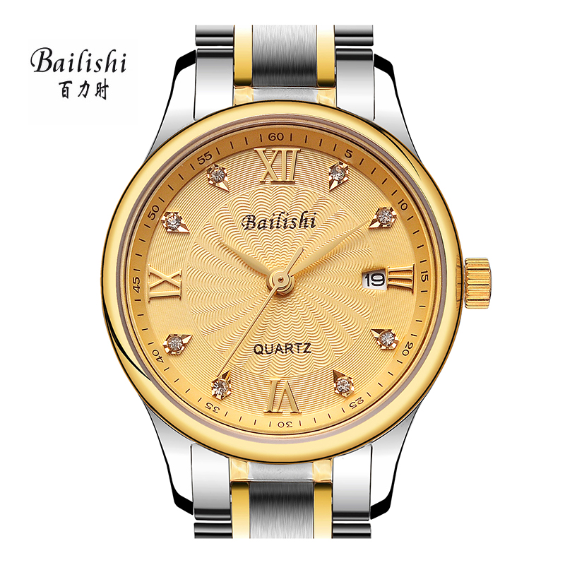 BAILISHI women quartz watch brand luxury wristwatch gold round watches stainless steel strapl waterproof relogio feminino feitong luxury brand watches for women ladies watch full stainless steel gold mesh band wristwatch wristwatch relogio feminino