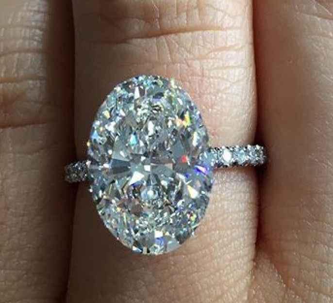 Choucong 2018 สัญญาแหวน 925 เงินสเตอร์ลิงรูปไข่ 3ct AAAAA Sona CZ แหวนหมั้นแหวนสำหรับงานแต่งงานเครื่องประดับ