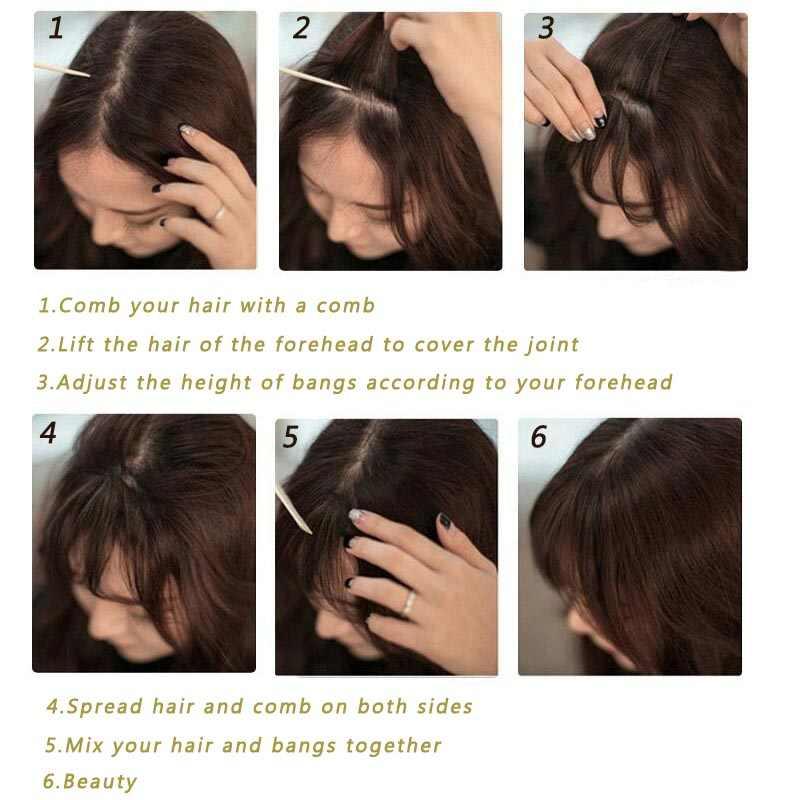 AISI BEAUTY естественная имитация челок фляза заколка для волос челка шиньоны бахрома синтетические волосы для наращивания для женщин тупой блонд