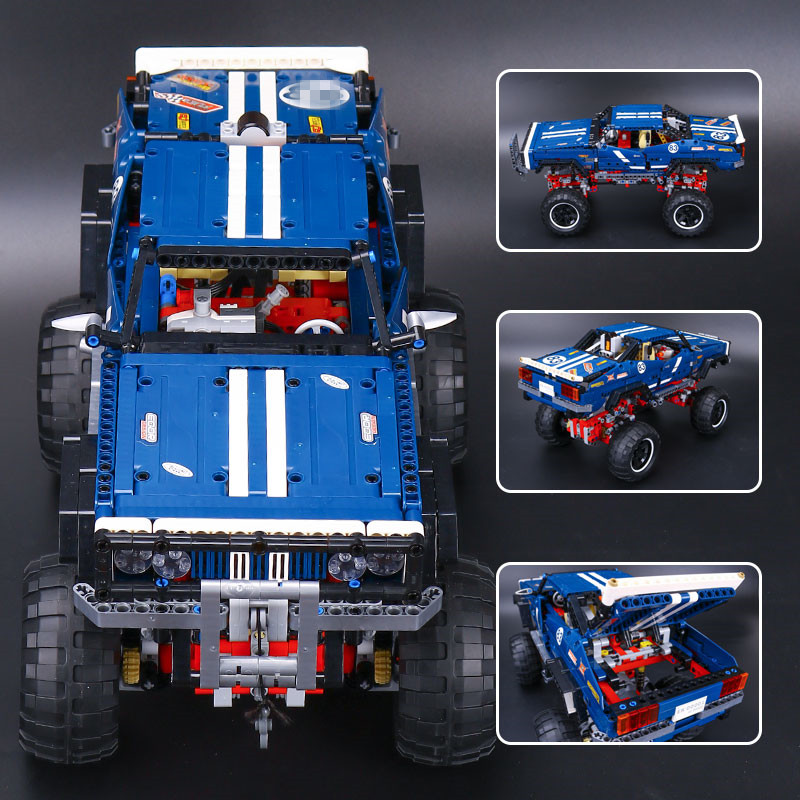 lepin 20011 NEW 1605pcs technic remote control electric off-road vehicles building block DIY toys compatible with 41999 for Kid lepin 20011 technic series remote control electric off road vehicles set diy model car building kits blocks bricks children toys