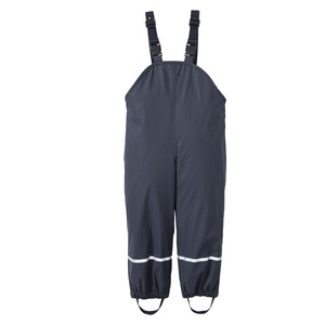 Image 5 - Rain Trousers Kids PU Baby Girl Overall Waterproof Boys Pants Yellow Navy Blue Toddler Romper 2020 Chidlren Jumpsuit 1 10 Years