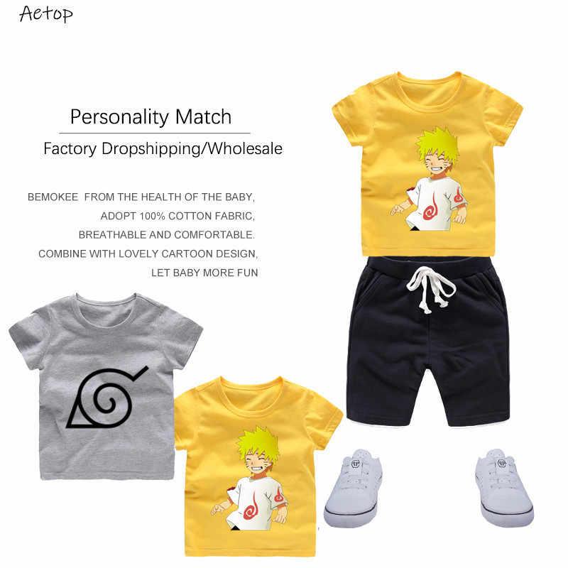 2 T - 12 T ชายและหญิง Naruto พิมพ์ T เสื้อฤดูร้อนตลกเสื้อผ้าเด็กวันเกิดของขวัญจำนวนเสื้อยืด, b245