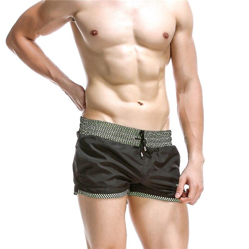 Волейбольные мужские пляжные шорты Спортзал Фитнес Бег тренировки мужские укороченные шорты дышащие нейлоновые спортивные брюки с карманами