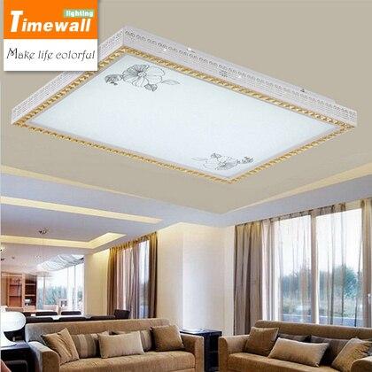 Led plafond verlichting rechthoekige woonkamer verlichting moderne ...