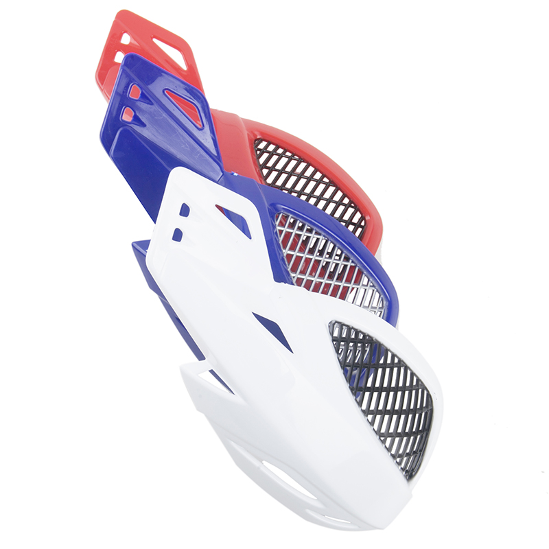 Image 3 - Hot sell Universal Motorcycle Handguards Motocross wind shield Handlebar Hand Guard Protectors Dirt Red/Blue/White Accessories-in Falling Protection from Automobiles & Motorcycles