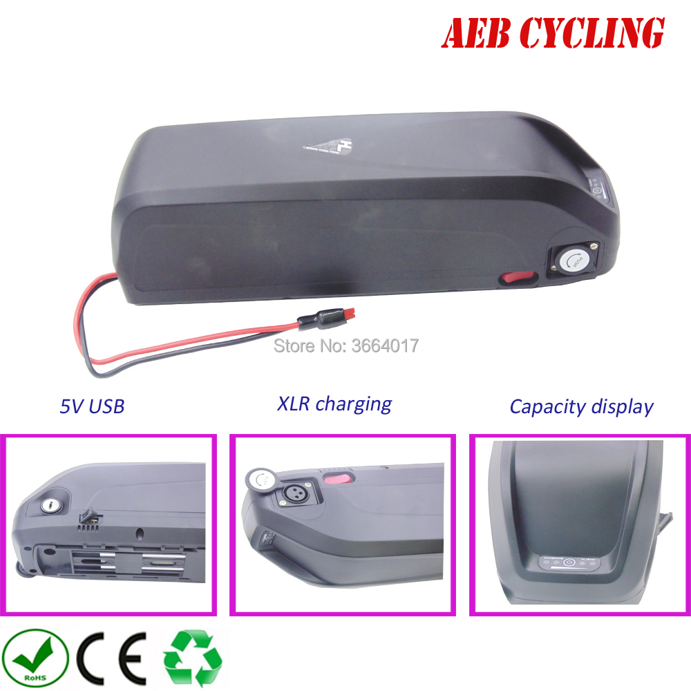 US EU No Tax New Hailong E-Bike Battery 48V 16Ah Lithium ion Battery with 30A BMS USB for 750W BBS02B 1000W BBSHD Bafang Motor us eu no tax hailong down tube shark 48v 1000w ebike battery 48v 14 5ah lithiun ion battery for bafang bbs02 bbshd mid motor