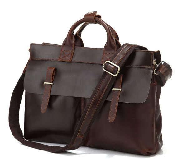 100 First Layer Genuine Leather Men Messenger Bags Business Briefcase Vintage men shoulder bags business font