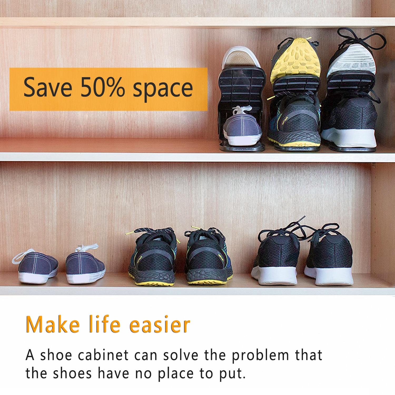 Living Room Furniture Efficient 8 Colors Fashion Shoe Racks Double Cleaning Storage Shoes Rack Convenient Shoebox Shoes Organizer Stand Shelf Drop Shipping Shoe Cabinets