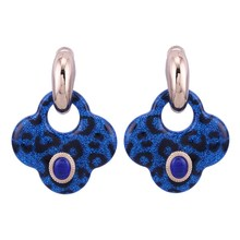 цена на Sehuoran Zinc Alloy Drop Earrings For Woman Resin Tiger Pendants With Stone Big Weddings Earrings Jewelry For Chrismas Gifts