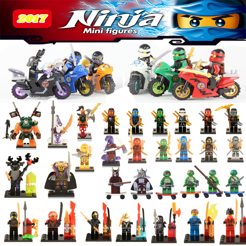 Single Sale Ninjagoes Motorcycle Mini legoing Jay Lloyd Nya Skylor Zane Building Blocks Bricks Figures toys Gift for children