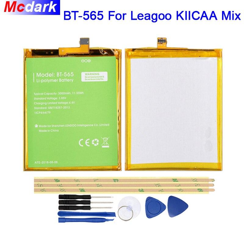Mcdark 3000 mah BT-565 Batterie Für Leagoo KIICAA Mix Batterie Bateria Akkumulator AKKU AKKU PIL Handy + Werkzeuge