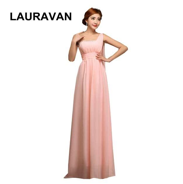fashion long pink peach red blue one shoulder bridesmaid modest formal women modest chiffon bridesmaids dress gown dresses