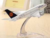 20CM A380 Lufthansa Airplane Aircraft Model 16cm Airline Aeroplan Diecast Model Collection Decor Gift Toys For Children