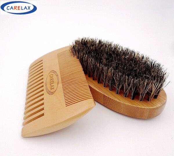 comb shaving brush set beard brush for men bamboo with boar bristles face massage and beards. Black Bedroom Furniture Sets. Home Design Ideas
