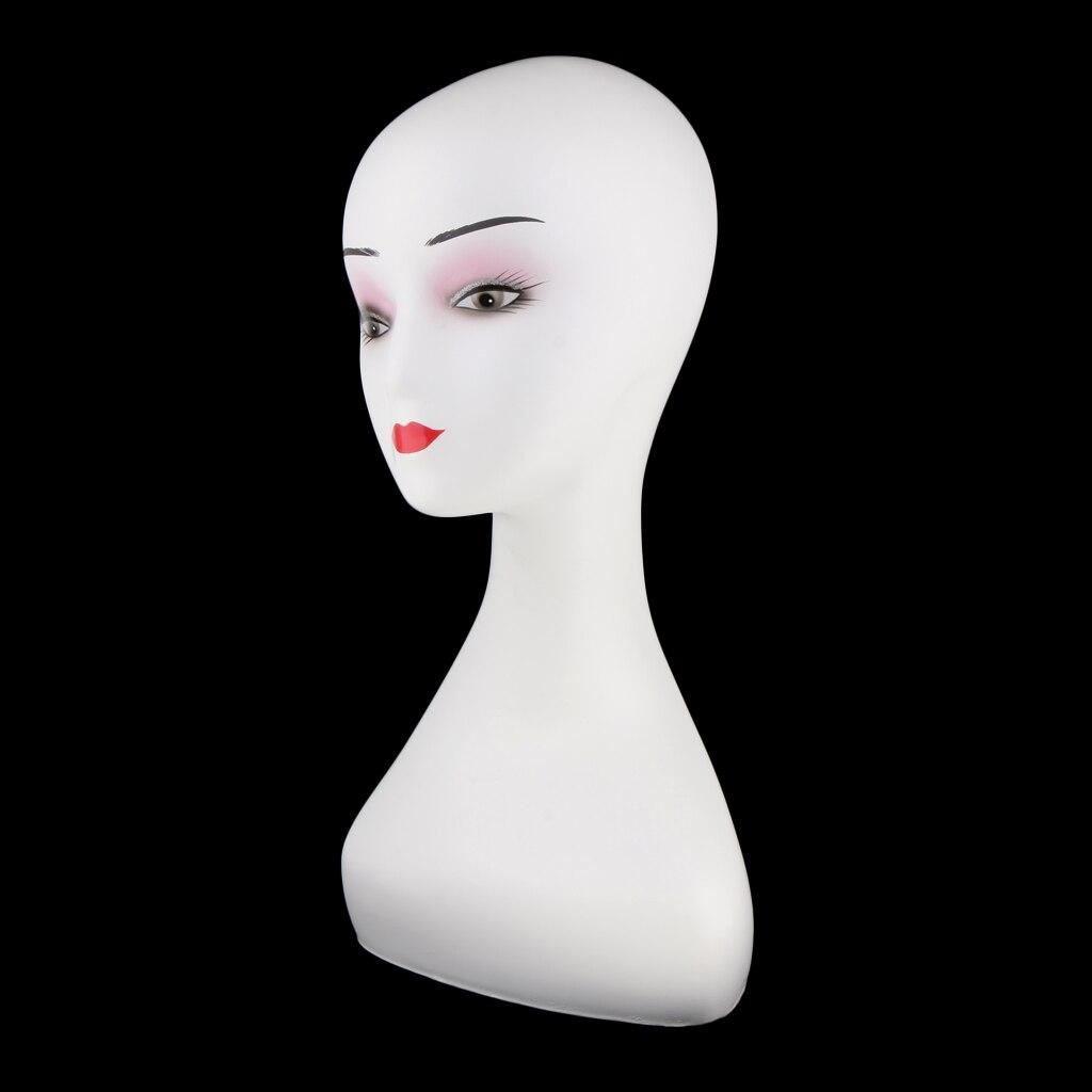 MagiDealMagiDeal Mannequin Head Manikin Modle Wig Cap Earrings Display Stand