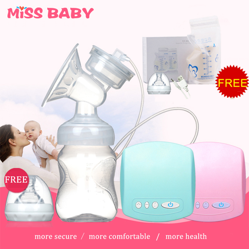 New 2018 Intelligent automatic electric breast pumps Nipple Suction milk pump breast feeding Single USB Electric Breast Pump 510 automatic electric breast pump lcd display portable silent milk pump breast feeding electric breast pump accessories yellow