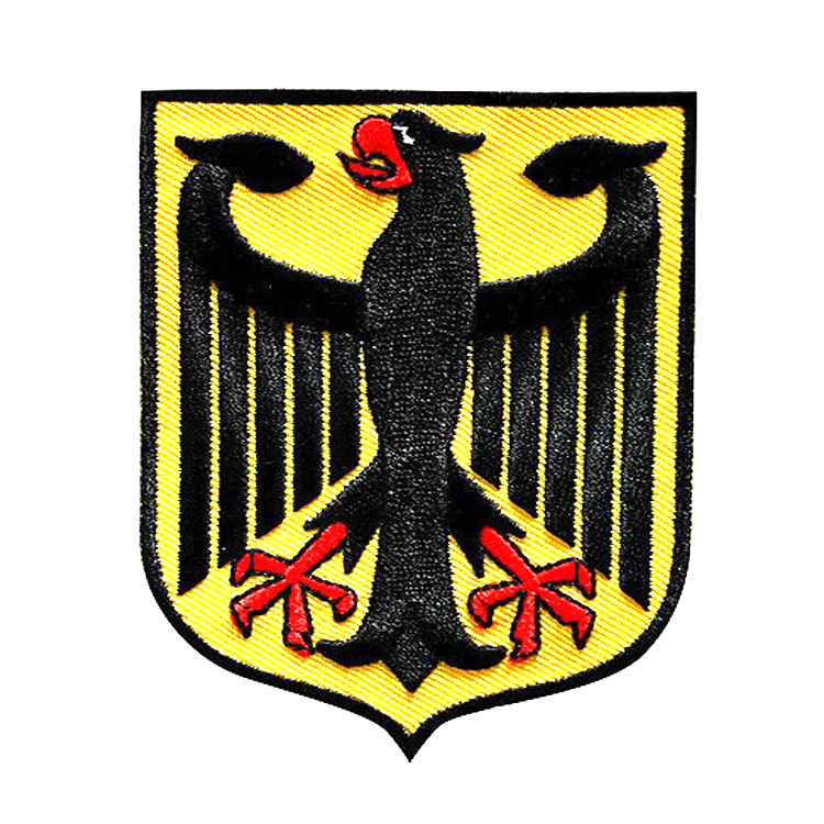 GUGUTREE embroidery HOOK LOOP German flag patches bieagle shield patches badges applique patches for clothing AD 205 in Patches from Home Garden