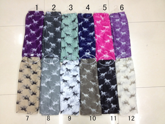 Free Shipping 2015 New Fashion run Horse Scarf Snood Runnning Horse Scarves For Women/Ladies ...