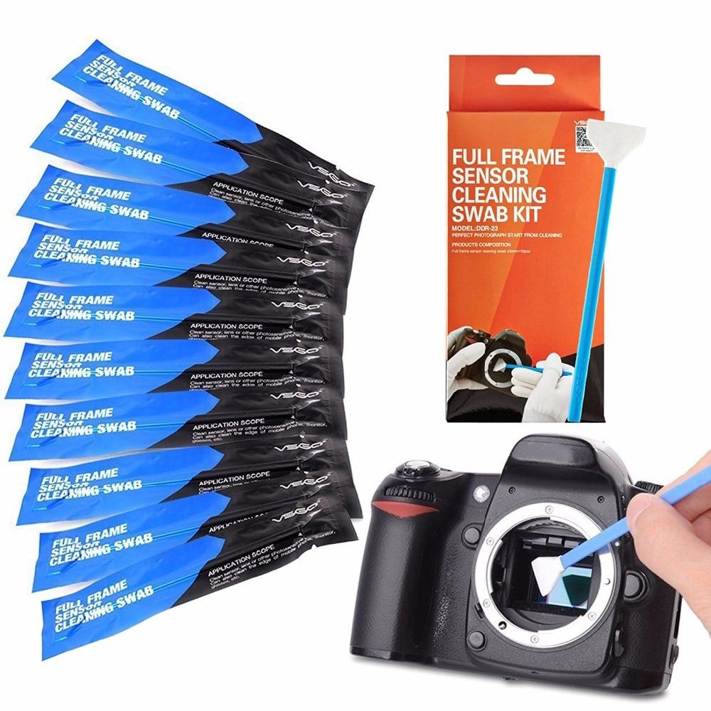 Bastón de limpieza CCD / CMOS con sensor de cámara de cuadro completo VSGO 10 PCS para Sony A7 Nikon D850 Canon 5D Matrix Cleaning