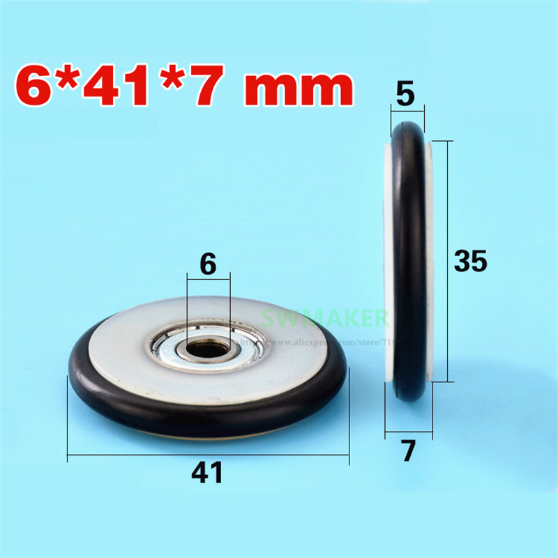 M6*41*7mm Buna-N rubber O rubber ring rubber rubber roller, mute elasticity, 626 bearing pulley for blackboard/fishing tackle