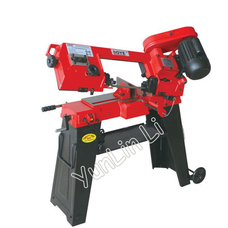 Metal Band Saw 220V 750W Woodworking Sawing Machine Frozen Meat Bone Sawing Machine with English Manual GFW5012 mobile sawing