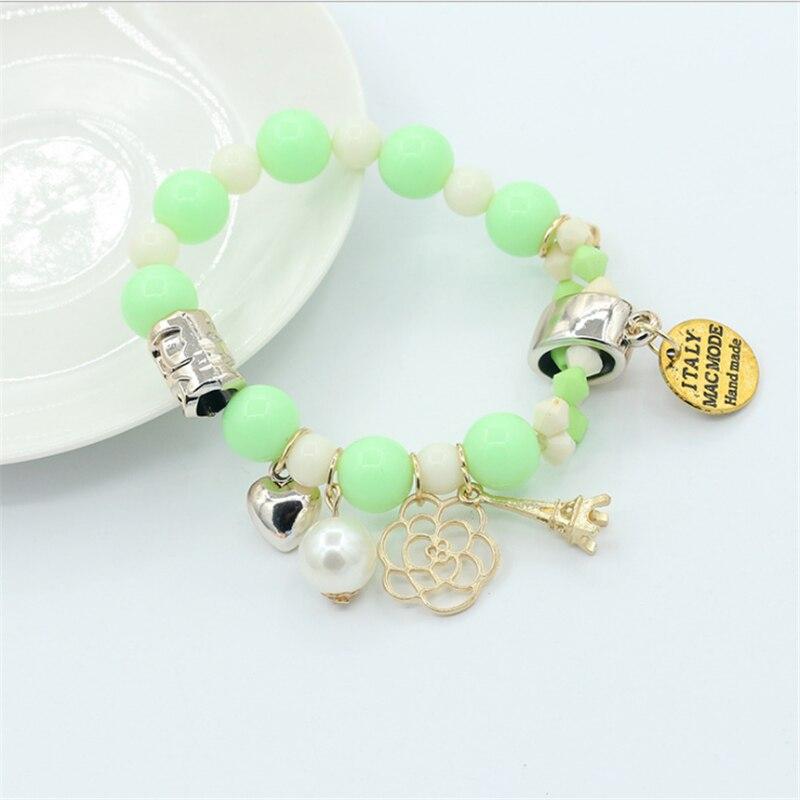 new nature stone beads bracelets for women adjustable Pendant flowers charms Pulseira bracelets Feminina fashion jewelry gifts