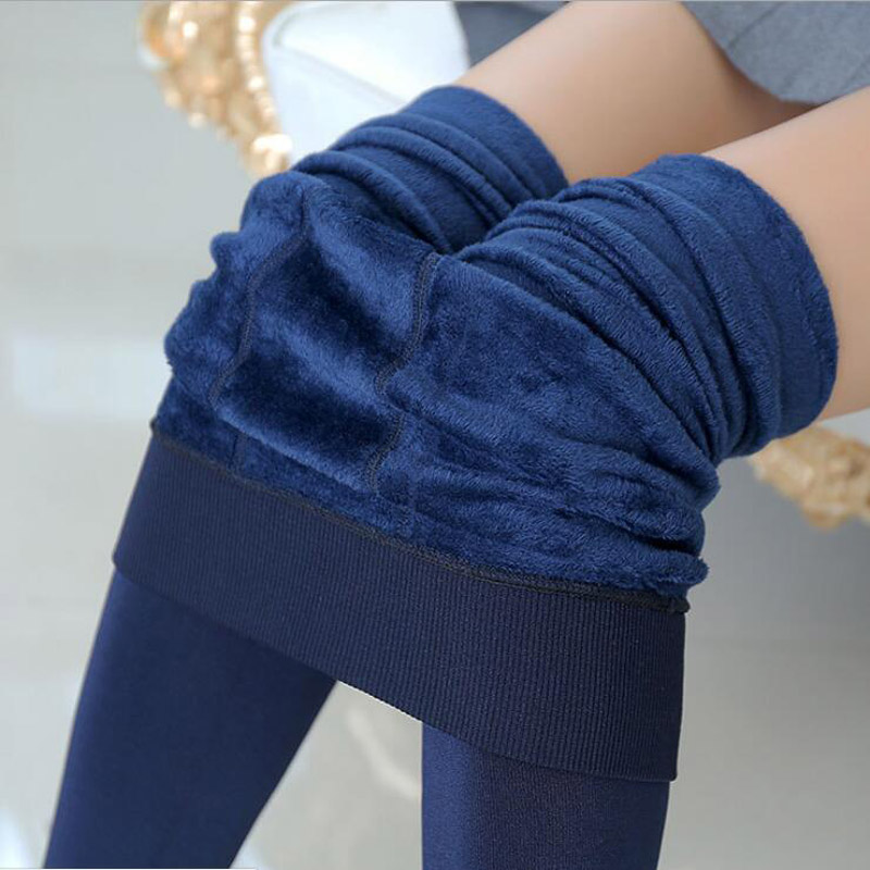 High Elastic Waist Autumn And Winter Plus velvet thicken Womens Leggings Warm Pants Good Quality Thick Trousers Female 2018