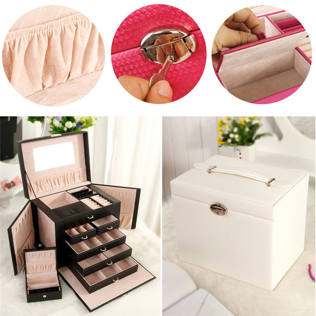 Pretty Makeup Bag Cosmetic Leather Portable Professional Makeup Cosmetics Cases box Cosmetic Large Toolbox Brush Storage  sc 1 st  AliExpress.com & Pretty Makeup Bag Cosmetic Leather Portable Professional Makeup ...