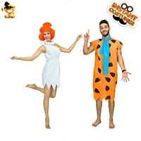 Halloween Kostuums voor Vrouwen & mannen Cavemen Cosplay Fred Flintstone & Wilma Flintstone voor Volwassen Halloween Kleding