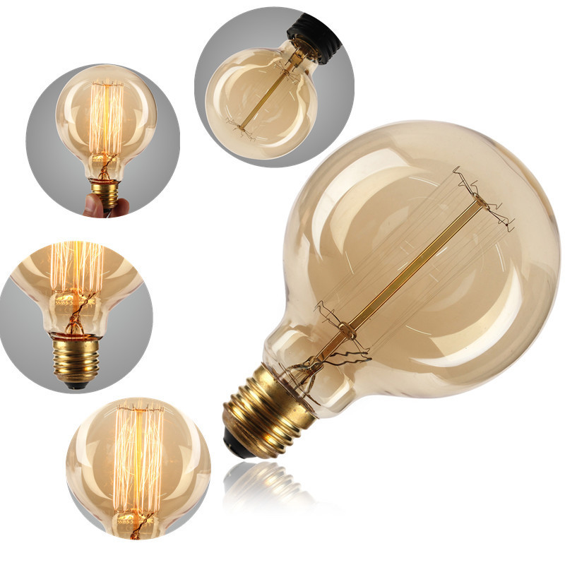 BRIGHTINWD 220V Edison Bulb E27 Ampoule Vintage Bulb Lamp Retro 40W Incandescent Filament Bulb ST64 Home Decorative Lighting