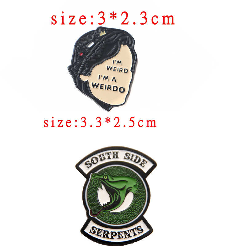 Riverdale Snake Enamel Pin Brooch Cosplay Props Alloy Women Men Party Jughead Badge Accessories