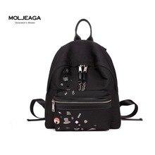 Moljeaga женские рюкзаки водонепроницаемый нейлон модная одежда для девочек рюкзаки Женский Повседневная сумка дамы Mochila Feminina оборудования