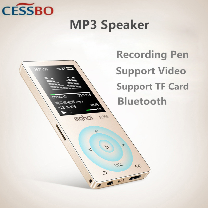 8G Hifi MP3 Lecteur écran tactile bluetooth sans fil MP3 Lecteur AAC/WAV/FLAC/OGG/MP3/APE décodeur Vidéo TF Carte Dossier MP3 Haut-Parleur