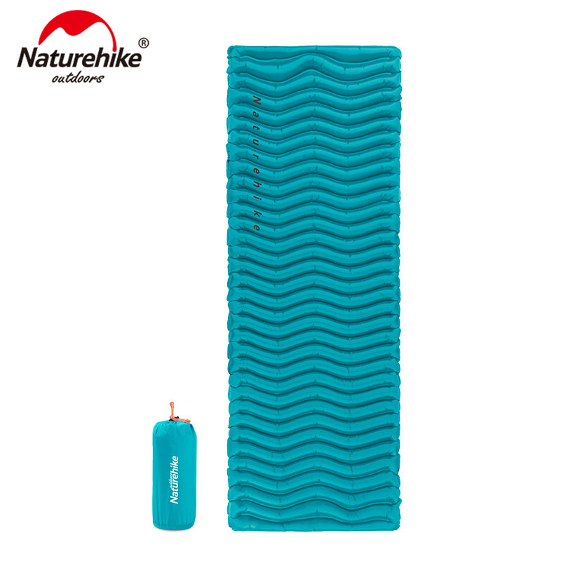 Naturehike Outdoor Ultralight Wave Shape TPU Inflatable Camping Mat Waterproof Sleeping Pad Picnic Folding Mattress NH18C009