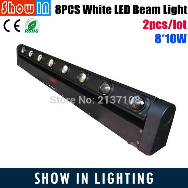 90W White CREE LED Wash Beam Moving Head Light 8*10W DMX512 DJ Disco Party Wedding Stage Lightings Effect Cabezas Moviles Disko