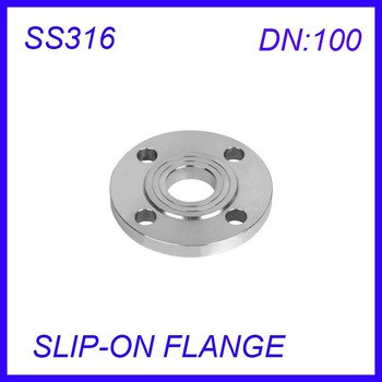 DN100 Stainless Steel SS316L RAISED FACE 4-Bolt SLIP-ON FLANGE Industrial