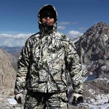New Bionic Tactical Camouflage Winter Lighweight Field Coat with Liner Camo Parkas for Hunting and Outdoor(China)