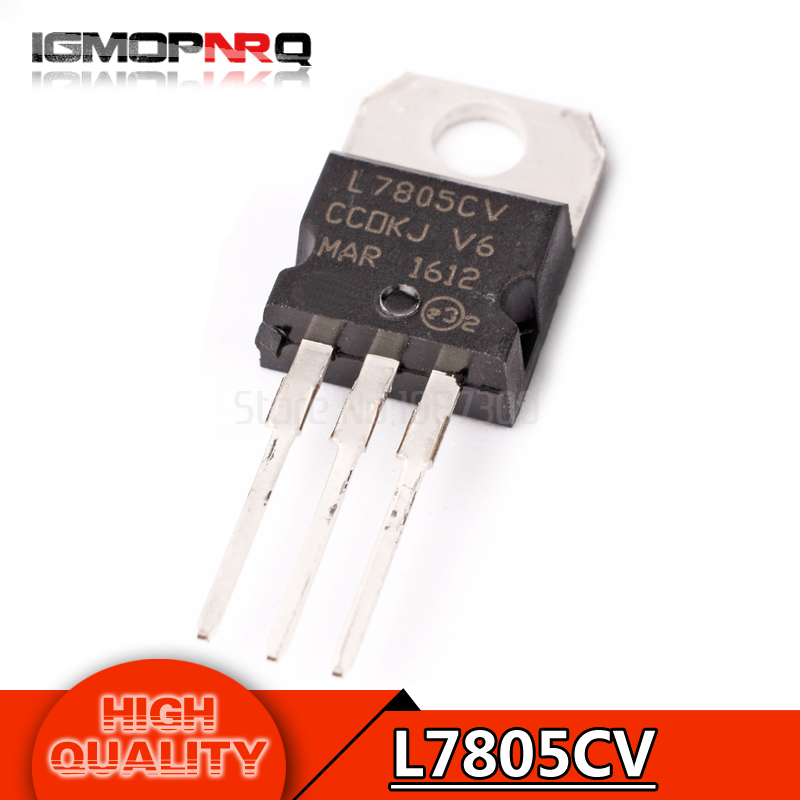 20pcs free shipping L7805CV L7805 KA7805 MC7805 Voltage Regulator 5V 1 5A  TO-220 new original
