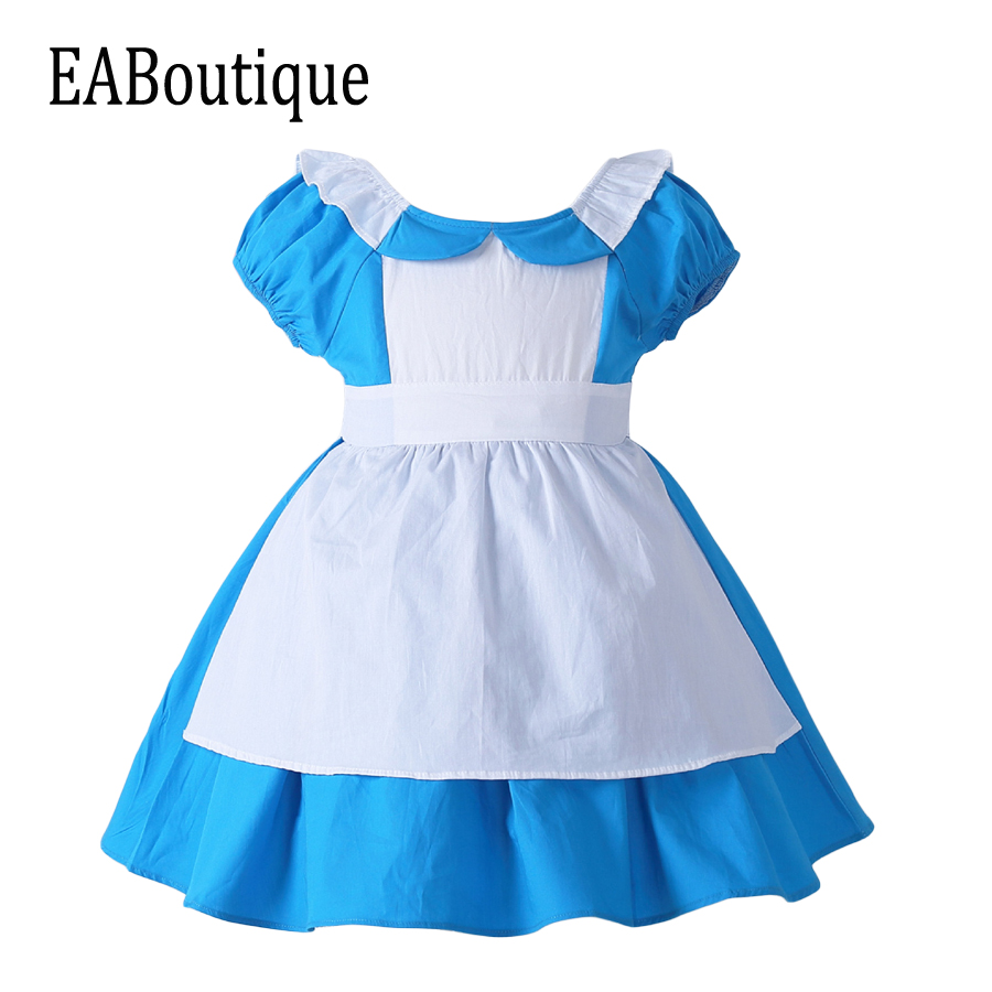 EABoutique 2017 New high quanlity Alice s Adventures in Wonderland cotton halloween costumes for kids girls