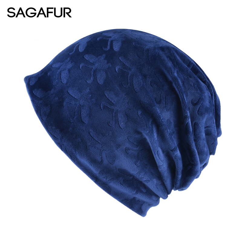 SAGAFUR Autumn Women's Hat Cap Men Multifunctional Brand New Flannel 2017 Winter Fashion High Quality Warm Beanie Bonnet  #MZ756