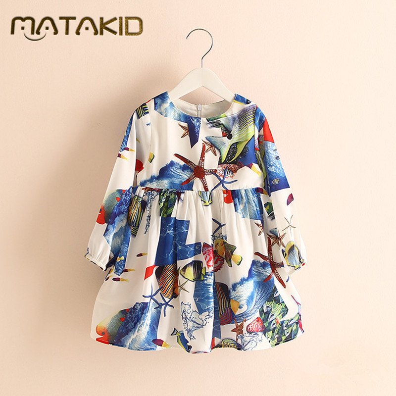 HOT Sale Hawaii holiday Baby girl dress kids clothes girls 2017 New flower dresses for girls Princess Dress 2 - 8 dress girl 2017 flower girl dress casual daily style kids dress for girls spring baby girl clothes children brand clothing fashion hot sale