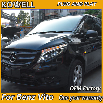 Car Styling  for Benz V260 ALL LED Headlight 2016-2017 for Mercedes-Benz Benz vito 2017 LED Headlight DRL Bi-LED Lens